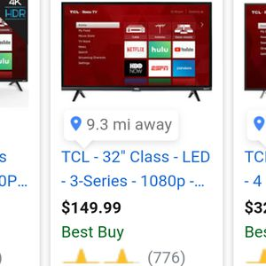 """TCL 32"""" ROKU SMART TV (TRADE) for Sale in Stanwood, WA"""