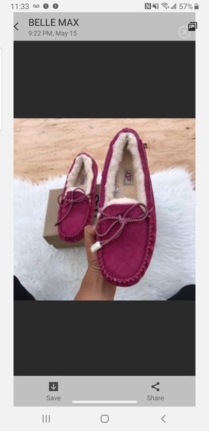 Ugg WOMEN'S moccasin brand new 9 Hot Pink for Sale in Silver Spring, MD