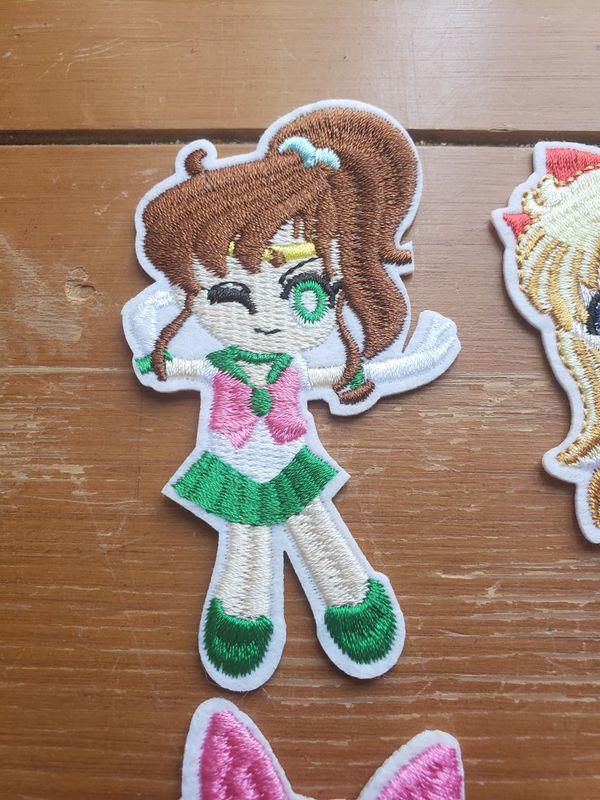 Sailor Moon 6 patch set new Iron on