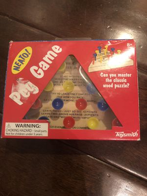 Peg Game Puzzle Toy for Sale in San Diego, CA