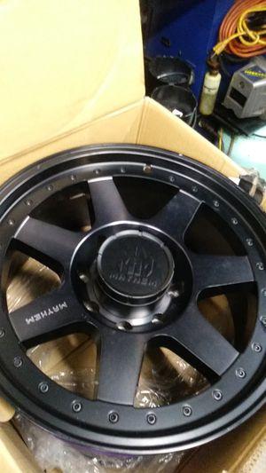 Black Mayhem 20 inch truck rims. 20x9.0. 700 obo for Sale in Valrico, FL