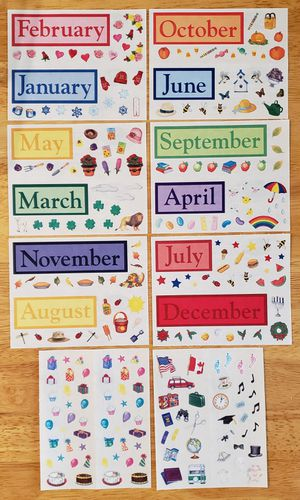 Creative Memories Calendar Accent Stickers for Sale in Fontana, CA