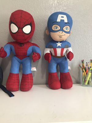 Spider-Man and Captain America for Sale in Stockton, CA
