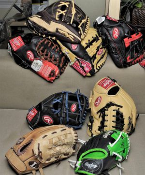 Youth baseball gloves $40 and up for Sale in Houston, TX