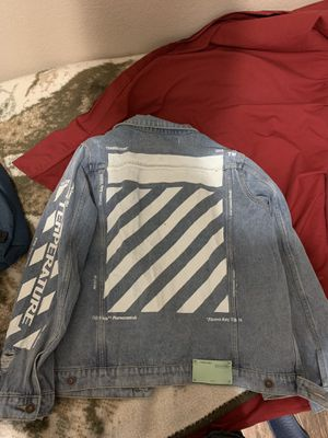 Off white denim jacket for Sale in Plano, TX
