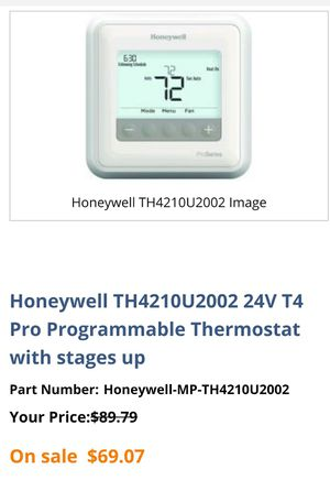 Honeywell T4Pro thermostat for Sale in Largo, FL