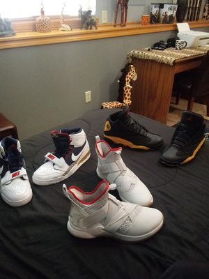 Size 12 LeBrons size 13 Retro Ones and the 13s are size 13 for Sale in Wichita, KS