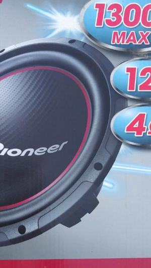 12 inch pioneer subwoofer bass for your car stereo system 1300 watts new from factory great addition too full quality sounds for Sale in Santa Ana, CA