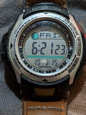 Casio Pathfinder 2632 Men's Pas-400b Resin Fishing Lunar Phase Watch for Sale in Salt Lake City, UT