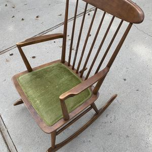 Mid-Century Modern Rocking Chair w/ Green Cushion for Sale in Murray, UT