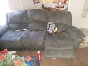 Grey suede couch for Sale in Macon, GA