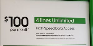 4 lines only $100 for Sale in Weirton, WV