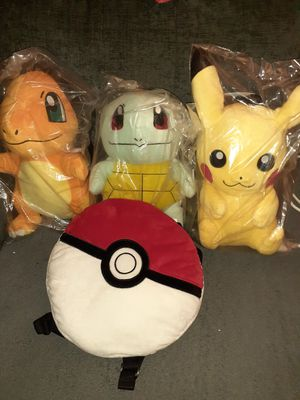 Pokemon plushie backpack for Sale in Bloomington, CA