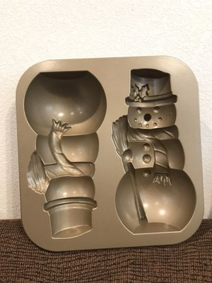 Nordicware Double Snowman Cake Pan Mold for Sale in Midland, TX