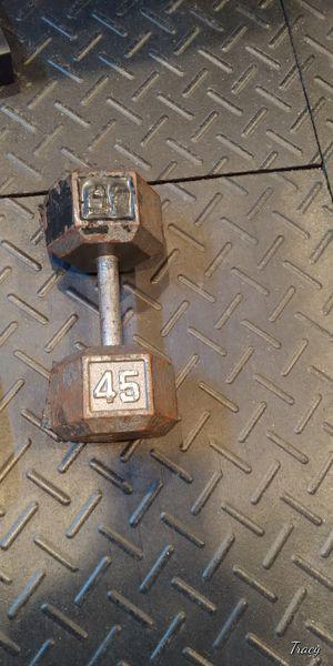 Single 45 lb Dumbbell for Sale in Allen Park, MI