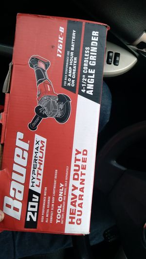 Bauer's 20v angle grinder with battery and charger only used 2 times for Sale in Lynwood, CA