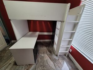 Bunk Bed with desk and cabinets. for Sale in Deerfield Beach, FL