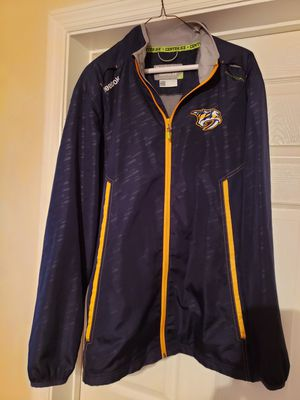 Nashville predators meduim light weight Reebok jacket Center Ice Collection gently used, very good condition. for Sale in Murfreesboro, TN