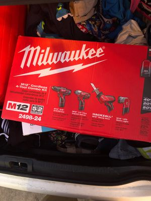 Combo kit Milwaukee prt#2498-24 brand new in box for Sale in Dallas, TX
