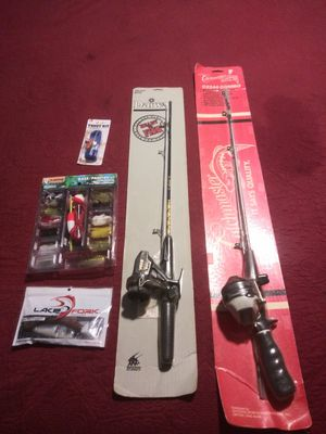 Two new fishing poles and bait kits for Sale in Los Angeles, CA