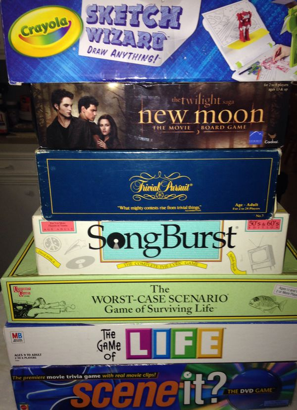 New Moon Board Game and Crayola Sketch