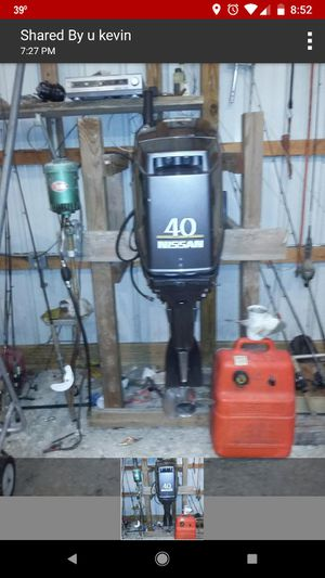2002 40 horse Nissan outboard for Sale in Peoria, IL