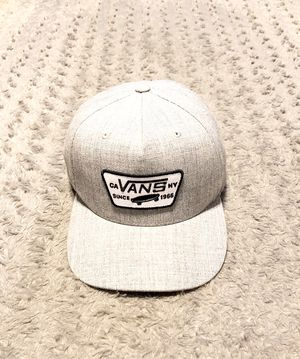 Mens Vans full patch SnapBack paid $30 Like new! One size. Amazing condition! No rips, tears or stains. Color grey & black for Sale in Washington, DC