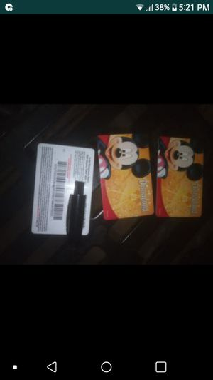 2 day park hopper tickets $250 for all three or $100 a piece for Sale in Westminster, CA