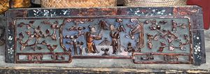 Antique Chinese Lacquer Wall Plaque for Sale in Portland, OR