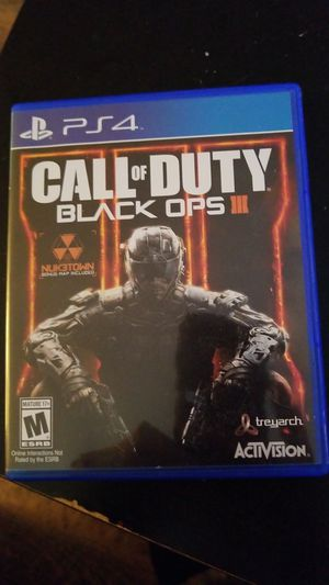 CALL OF DUTY BLACK OPS 3 for PS 4 for Sale in San Diego, CA