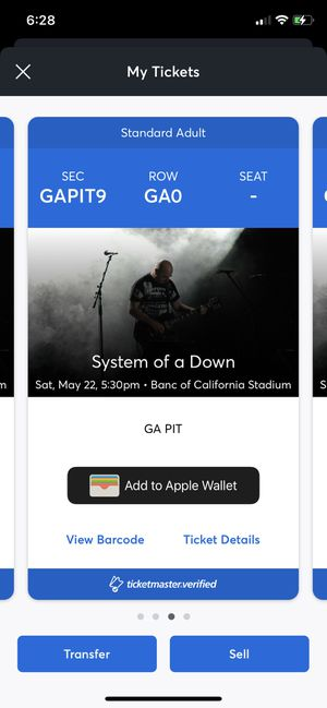 System of a Down tickets for Sale in Montebello, CA