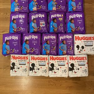 Pull Ups And Huggies Diaper Bundle Deal for Sale in Pelham, NH