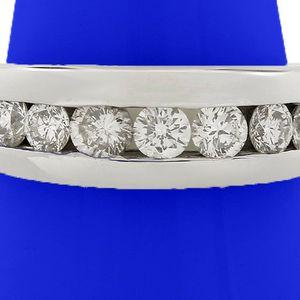U2473 MENS DIAMOND WEDDING BAND 1.25CT RING 14K W. GOLD 8.5 GRAMS for Sale in San Diego, CA