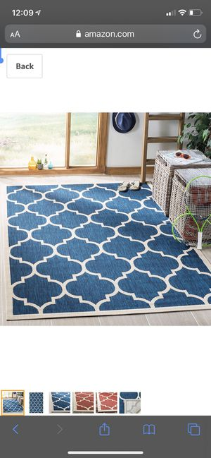 """Safavieh Courtyard Collection CY6914-268 Navy and Beige Indoor/ Outdoor Area Rug (5'3"""" x 7'7"""") for Sale in Lemont, IL"""