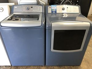 🔥KENMORE OASIS TOP LOAD WASHER AND GAS DRYER SET WIDTH GLASSES DOOR 🔥 for Sale in Norco, CA