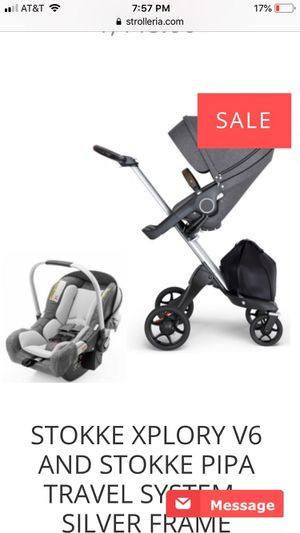 Stokke stroller with car seat and base! for Sale in Corpus Christi, TX