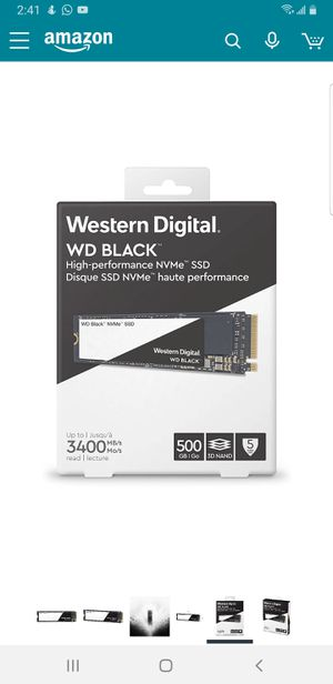 500GB SSD NVME PCIE M2 M.2 MEMORY SUPER FAST for Sale in Coconut Creek, FL