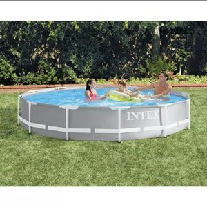 Intex 26710EH 12ft x 30in Prism Metal Frame Above Ground Swimming Pool (No Pump) for Sale in Lombard, IL
