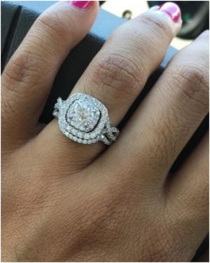 NEW Wedding Band Engagement Ring Set for Women 925 Sterling Silver 1.8Ct Round White AAA Cz for Sale in West Laurel, MD
