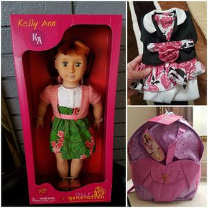 """Our Generation Doll 18"""" with extras for Sale in Auburn, WA"""