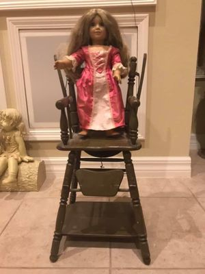 Antique Doll High chair 2-in-1 Desk for Sale in Trinity, FL