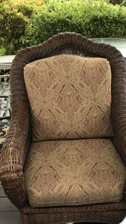 Ethan Allen Wicker Chair for Sale in Mercer Island,  WA
