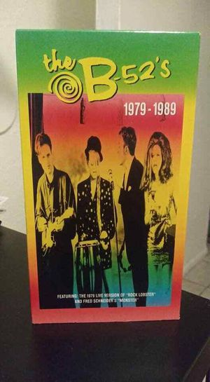B-52's VHS Tape Video Collection 1979-1989 Produced in 1990 for Sale in Orlando, FL