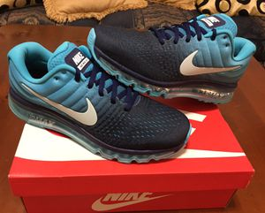 💯 AUTHENTIC NIKE AIR MAX 2017 ROYAL BLUE RUNNING SIZE 10 NEW IN BOX Supreme Deal!!!! $95 FIRM PRICE for Sale in Raleigh, NC