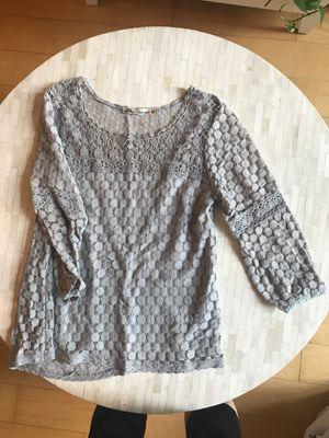 Eyelet grey shirt! for Sale in Washington, DC