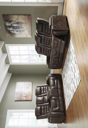 Game Zone Bark Power Reclining Sofa & Loveseat 38501 VENDOR ASHLEY for Sale in Houston, TX