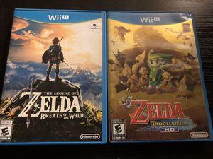 Trades- Zelda Breath of Wild and Windwaker HD for Wii-U Nintendo for Sale in Gilbert, AZ