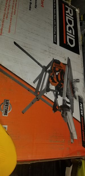 Ridgid 15amp 10in table saw with folding stand (soft start) for Sale in Grand Prairie, TX