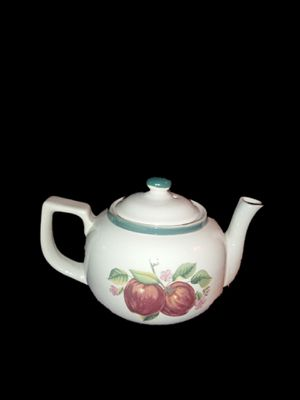 China Pearl Casuals White Porcelain 40oz Teapot. It has a beautiful red apple design. Brand New. SHIPPING ONLY!!! for Sale in Colorado Springs, CO