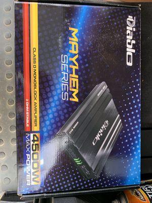 Diablo Mayhem DB Drive Pro4500 2-channel Pro Audio Amplifier 4500w for Sale in Rowlett, TX